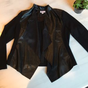 D&Co black jacket with leather and suede accents